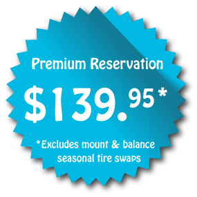 Premium-Reservation Winter tire storage